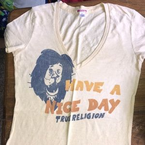 True Religion vneck shirt sleeve t size xs